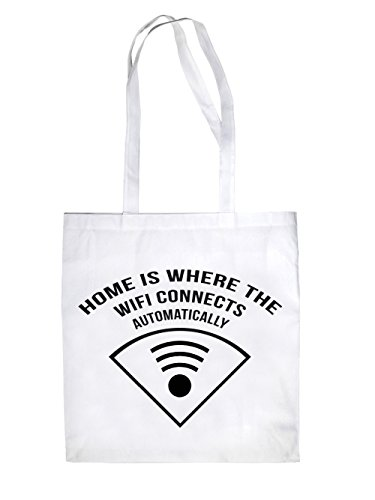 Home is where Wifi Jutebeutel White