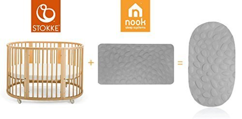 - Nook Pebble Pure Organic Mattress (Cloud White) OVAL for Stokke Sleepi Full Size Crib