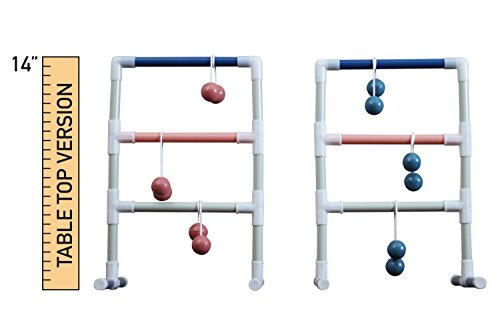 Indoor Ladder Toss: Ladder Ball Junior-Miniature Tabletop Game by Towpath