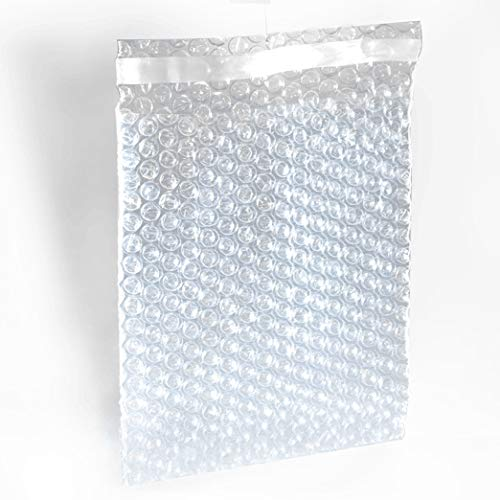 "100 Packs 4"" x 7.5"" Self-Seal Clear Cushion Bubble Pouches Bags to Protect Fragile Items by Mighty Gadget"