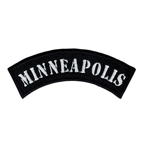 Minneapolis City Rocker/biker 4 Inch Width Diy Embroidered Iron on / Sew on Patch #C44