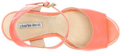 Charles David Femmes Plate-forme Doctave Sandale Mandarine