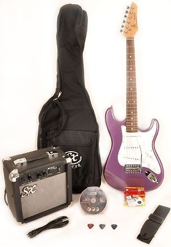 SX RST 3/4 Size MPP Purple Guitar Package with Amp, Carry Bag & Instructional DVD