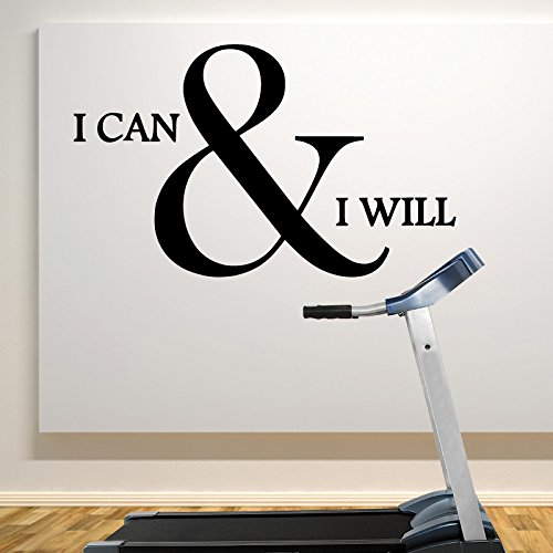 i can and i will Home and Gym Motivate Wall Decal