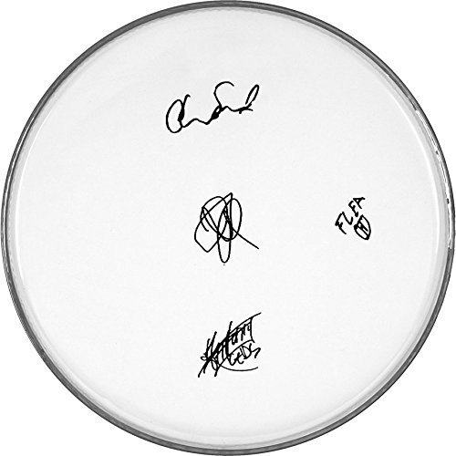 The Red Hot Chili Peppers Autographed Signed Clear Drumhead Autographed Signed Facsimile