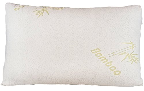 Check Out This Bamboo Pillow - Firm Shredded Memory Foam - Stay Cool Removable Cover With Zipper - H...