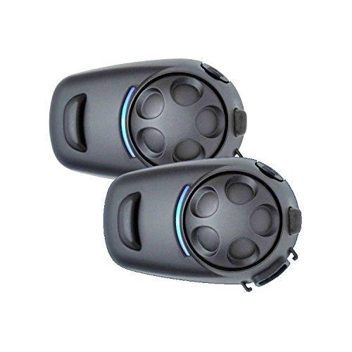 (SENA SPH10HD-FM-01 Bluetooth Stereo Headset & Intercom DUAL System for HALF Helmets, Includes (2) Complete headsets Kits (does NOT include helmet), SPH10HD-FM-01)