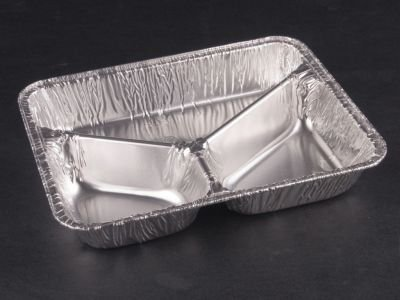 Set of 40\u0026nbsp;aluminium dinner plates with 3 sections 970 ml Aluminium bowls : aluminium dinner plates - pezcame.com