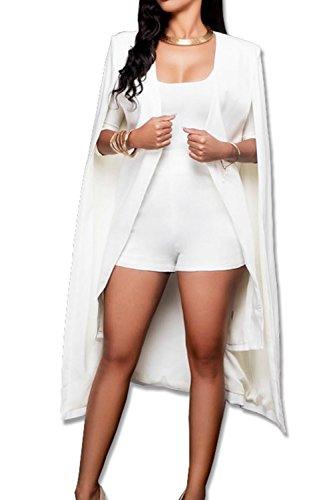 White Travail L Manteau Femme Veste Cape YACUN 4Ew7SqYnXX
