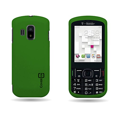 CoverON Hard Rubberized Slim Case for Alcatel T-Mobile Sparq II - with Cover Removal Pry Tool - Dark Green