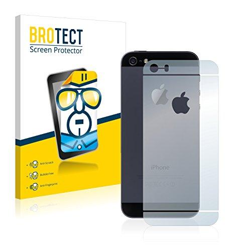 2x BROTECT Pellicola Protettiva Apple iPhone 5 Posteriore (totale + LogoCut) Schermo Protezione – Trasparente, Anti-Impronte