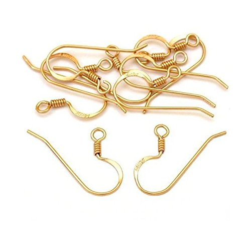 14K Gold Filled French Wire Earring Hooks (10)
