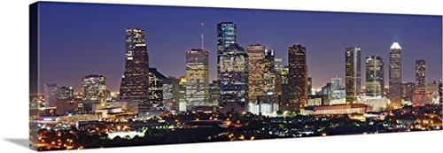 Canvas on Demand Premium Thick-Wrap Canvas Wall Art Print entitled Houston Skyline, Texas 60