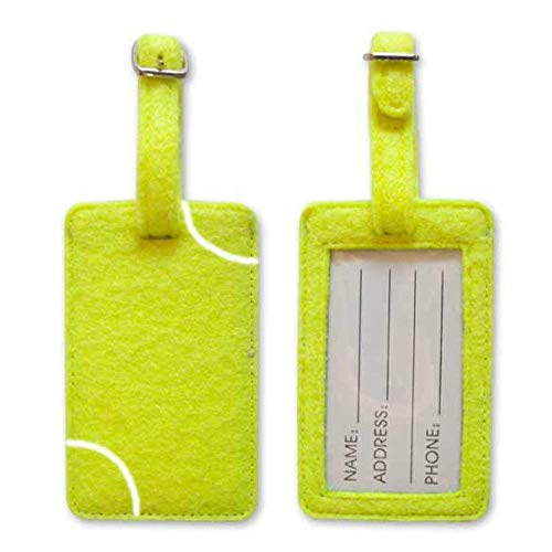 Tennis Ball Material Luggage Tag
