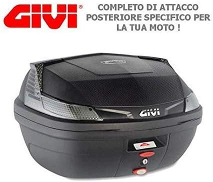 Casquillo E217 Monolock Honda XL 125 V Varadero 2001 2014 con catalizadores Negros Givi Ba/úl de 47 l B47NTML