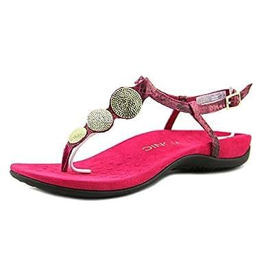 Vionic Lizbeth Womens T-strap Orthotic Sandal Raspberry Snake - 5