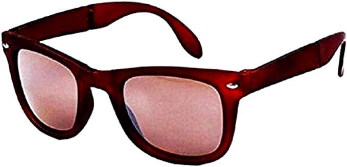 Gafas de sol con estuche - rectangular - clásico - lentes de color - marrón - primavera - otoño - invierno - verano: Amazon.es: Ropa y accesorios