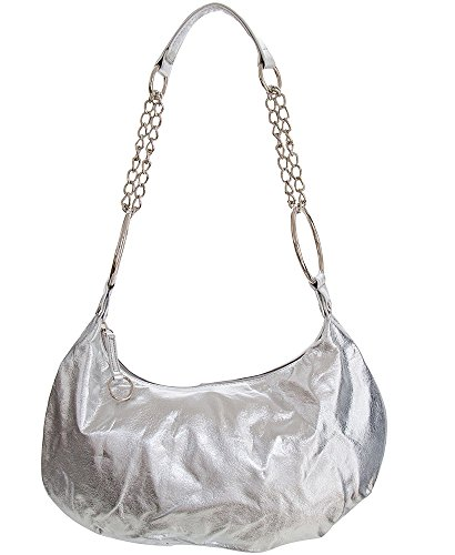 For Chained Silver Evening Shining Shoulder by women Hobo Medium Handbag All handbag Handbags 7EvcqwW5
