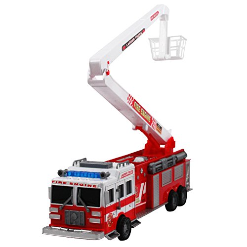 KidPlay Products Friction Pull Back Fire Truck Toy 17
