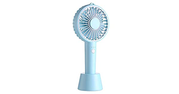 Mini Portable Fan Handheld Mini Fan With USB Rechargeable Detachable Base For Travel Camping 3 Speeds 5.5 Hours Handheld Mini Fan USB Powered Or Rechargeable 2000 MAh Battery 4 Colors USB Fan for Trav