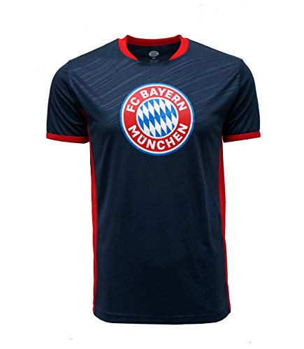 FC BAYERN MUNICH Official Merchandise by HKY Sportswear Mens Short Sleeve Jersey T Shirt