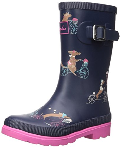 7e61aefda8 Joules Girls Printed Welly Rain Boot, Cycling Dogs, 2 M US Little Kid