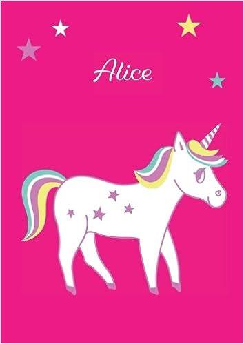 blanko Tagebuch Einhorn Malbuch Notizbuch DIN A4 Alice