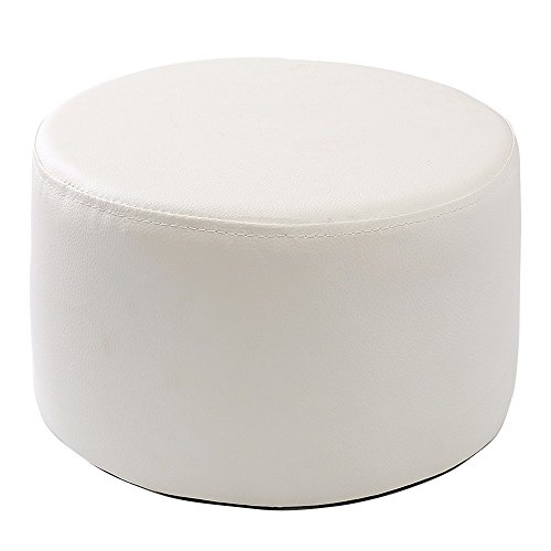 Xin-stool Fashion Stools/Sofa Stool/Coffee Table Stool/Leather sofa stool/Multifunctional footstool/European shoe bench/low stool/Bed stool Fashion dressing stool/2715cm (Color : White) by Xin-stool
