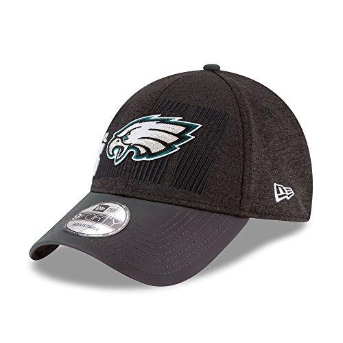 Philadelphia Eagles New Era Super Bowl LII Champions Trophy Collection Locker Room 9FORTY Adjustable Hat Black