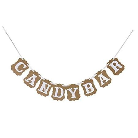 J * Myi Candy Bar 8 Banderillas - Pancarta de cumpleaños ...