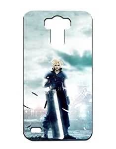 Final Fantasy Cell Phone Cover Case for LG G3 Funda Piel Cool Game Girls Boys (Negra and Diseño) 3D Dura Plastik Protect Luz Vintage Tough High Impact Case for LG G3