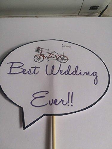 Wedding Photo Props-Set of 9-On Bamboo Sticks