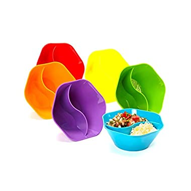 The Double Dipper Set of Six Multi Colored Bowl