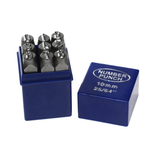 Number Set 0-9 Stamp Punch Set Hardened Steel for Metal Wood, Leather