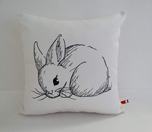OBA Canvas Co. Rabbit Pillow Cover