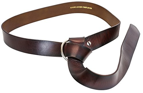 Medieval Ring Brown Belt Genuine Heavy Duty Thick Leather Steampunk (72