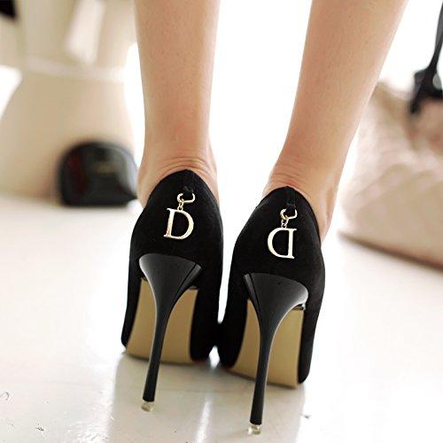 Bouche Profonde Noir 37 Pointe Peu Ne De Temprature Chaussures TJlF1Kc3
