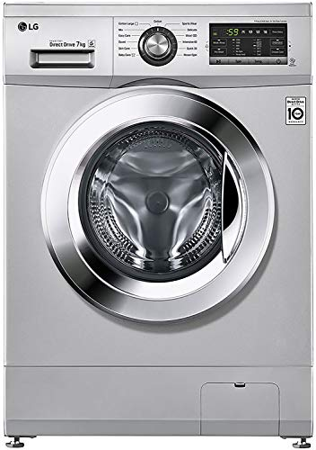 LG 7 kg Inverter Fully-Automatic Front Loading Washing Machine (FH2G6HDNL42, Luxury Silver, Inbuilt Heater)