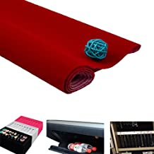 "Self-Adhensive Velvet Flock Liner Jewelry Contact Paper Craft Fabric Peel Stick (Red, 58""(L)35""(W)0.05""(T))"