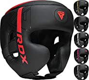 RDX Headgear for Boxing, MMA Training, Adjustable Padded Kara Head Guard for Cheeks, Forehead and Ear Protecti