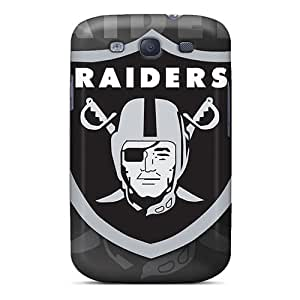 Scratch Protection Cell-phone Hard Cover For Samsung Galaxy S3 (Qua19719WcSJ) Customized HD Oakland Raiders Skin