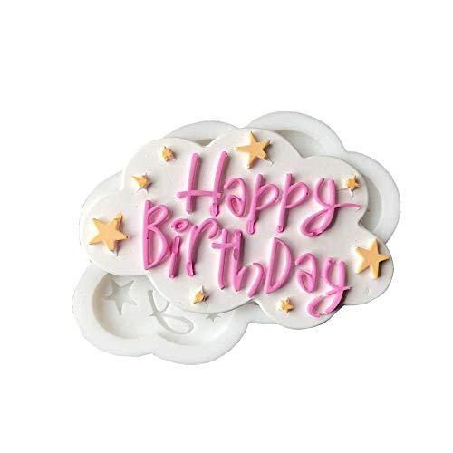Happy Birthday Cake Mold Happy Birthday Fondant Cupcake Decorating Molds Cake Silicone Mold Sugarpaste Candy Chocolate Gumpaste Clay Mould