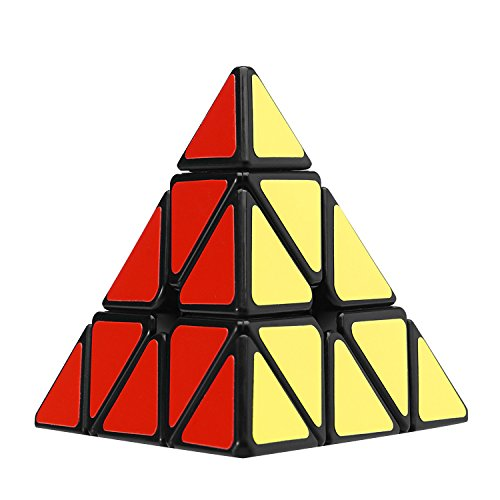 Olicity Pyramid Cube Speed Triangle Puzzle Cube, Black