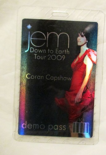 2009 Jem Hologram Laminated Backstage Pass Down to Earth Tour