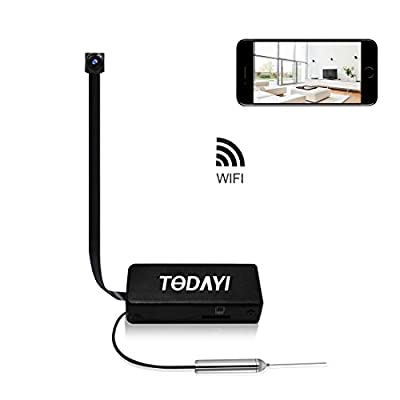 Spy Camera, TODAYI Mini Hidden Camera 720P Wireless WiFi Nanny Cam Indoor/Outdoor Portable Home Security Camera Motion Detection Loop Recording by Shenzhen Tuodayi Technology Co., Ltd.