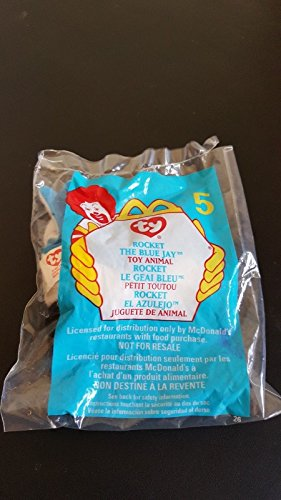 (Ship from USA) McDonalds Ty Teenie Beanie Babies 1999 #5 ROCKET the BLUEJAY /ITEM#H3NG UE-EW23D166356
