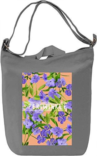 Periwinkle Borsa Giornaliera Canvas Canvas Day Bag| 100% Premium Cotton Canvas| DTG Printing|