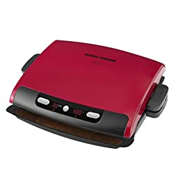 George Foreman GRP95R 6 serving Removable Plate Grill, Red