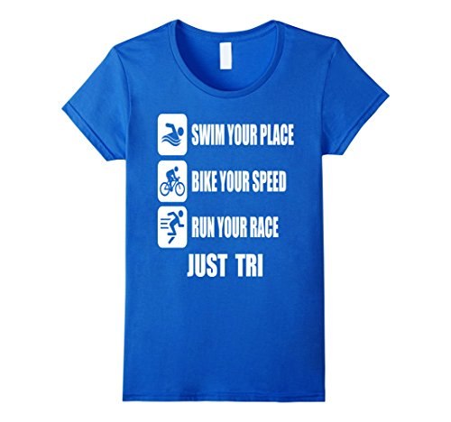 Womens Triathlete T Shirt Best Gift For Triathlon Lovers Large Royal - Triathlete Best Female