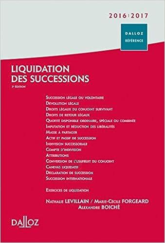 En ligne téléchargement gratuit Liquidation des successions 2016/2017 pdf ebook